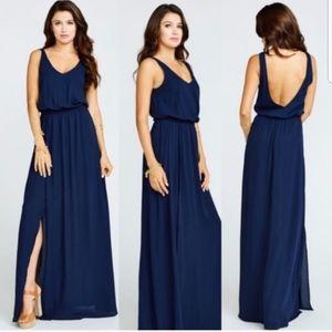 Show Me Your Mumu Navy Kendall Maxi Dress